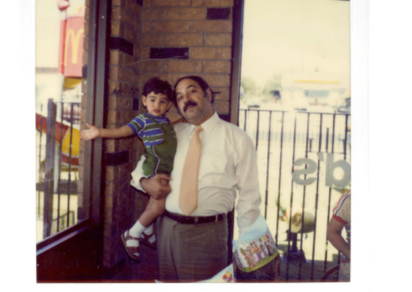 My 2nd birthday with my father, Leonardo.